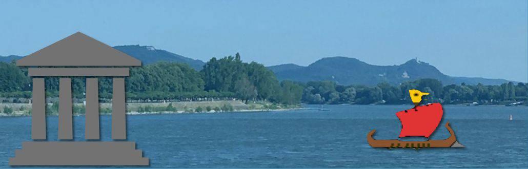Leben an der Rheingrenze, BLick von Bonn über den Rhein auf das Siebengebirge