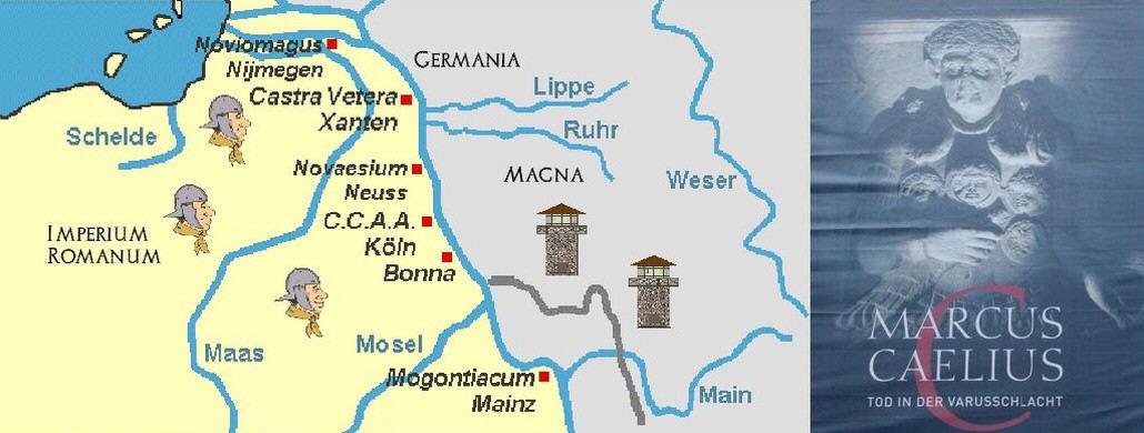Römische Rheingrenze, Plakat zur Caelius-Ausstellung