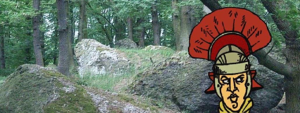 Felsenmeer am Rüdenet, Drachenfels, Römische Steinbrüche am Drachenfels