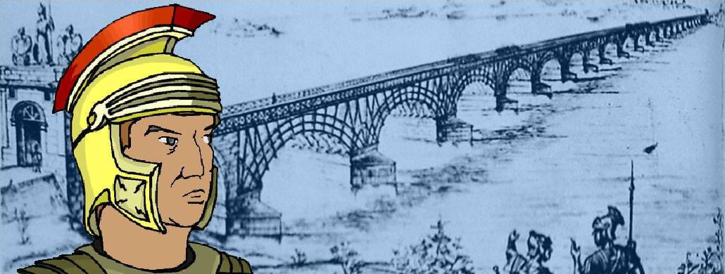 Römische Brücke über die Donau