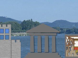 Rhein von Bonn und Siebengebirge, Legionslager, Tempel und Villa Alaudae